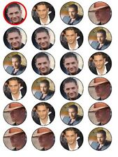 24 X TOM HARDY MIXED BIRTHDAY RICE PAPER CAKE TOPPERS