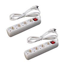 2 Stück LEX | 4-fach Steckerleiste mit Wippschalter und Kinderschutz | Steckdose