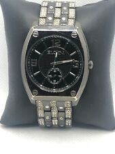 Elgin FG9752 Men's Silver Stainless Steel Analog Black Dial Quartz Watch KS126