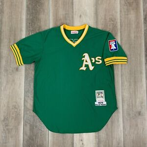 VINTAGE Mitchell And Ness Oakland Athletics Rollie Fingers Jersey 1976 XXL 52