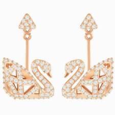 Swarovski pendientes para mujer de oro Rosa Pave Cristales faceta Cisne perforado 5358058