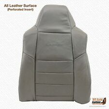2003 Ford F250 F350 Lariat Driver Lean Back PERFORATED Leather Seat Cover Gray