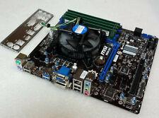MSI B85M-E45 MS-7817 Mainboard 1150 Intel B85 Inkl. CPU i3 @ 3,50Ghz + 8GB