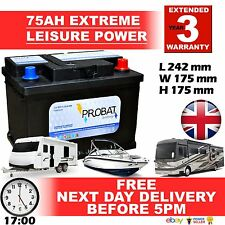 75 ah 70 60 amp ah Leisure Battery Low Height maintenance free sealed AUTOELITE