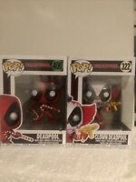 Marvel Deadpool Double Funko Pop Bundle X2 400 Candy Cane And Clown 322
