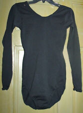 Vtg 70s black bodysuit leotard JcPenny bodysuit Size Long