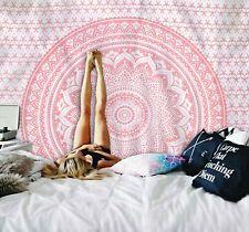 Rose Gold Mandala Indian Wall hanging Tapestry Beach Mat Throw Bed sheet Decor