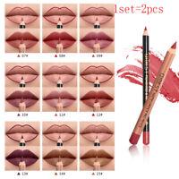 Waterproof Matte Lipstick pen+Lip Liner Lipstick Long Lasting Lip Makeup New