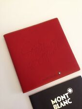 Nuevo Montblanc Diaries & Notes 100 years cuero Book agenda sobre dirección Book red -1207