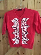 "Betty Jackson Studio Bolero Cardigan Chest 34"" Approx Size 10-12 Coral Pink"