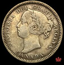 1886 Canada 10 Cents Large Knob 6 OBV5 - VF - Lot#1556P