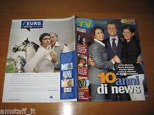 TV Sorrisi e songs = 2002/3 = Enrico Mentana, = cesara buonamici = Annalisa SPIEZIA = tg5