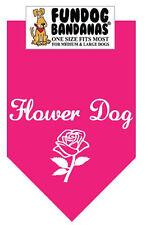 Flower Dog - Fun Dog Bandana Small - Pink - 100% of SALE BENEFITS RESCUE