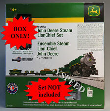 LIONEL JOHN DEERE STEAM REMOTE CONTROL TRAIN SET BOX 6-83286 BOX ONLY!