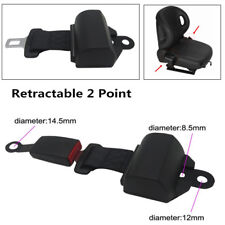 Heavy-Duty Nylon Retractable 2 Point Seat Belt Lap Auto Car Safety Seat Belt Set
