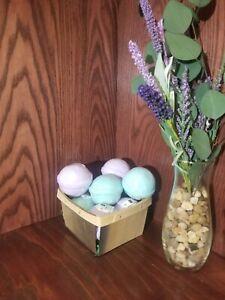 Hemp Bath Bombs Handmade Relaxation, Lavender and Eucalyptus