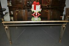 """72"""" Antiqued Mirror Glass Dining Room Table French Silver Wood Horchow 42""""W"""