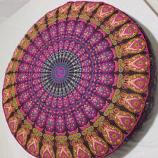 "35"" Indian Large bohemian Mandala Floor Cushion Cover Ombre Round Pillow Cover"