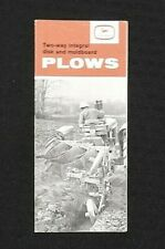 "1962 JOHN DEERE ""Two-Way Integral Disk & Moldboard Plow"" SALES BROCHURE NICE"