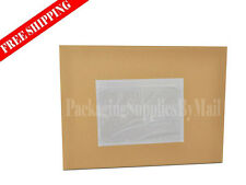 """7000 Clear Shipping Envelopes 7.5 x 5.5"""" Packing List Pouch Sticker"""