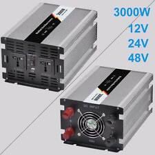 Solar Inverter 3000W 12/24/48V DC 110/220V AC Modified Sine Wave Power Inverter