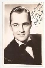 BOB SHARPE POST CARD 1942 Signed to Ed Miller