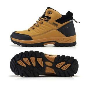 Men's Snow Boots Non-slip Warm Cotton Shoes Outdoor Waterproof Hiking Climbing