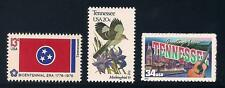 TENNESSEE - STATE FLAG, BIRD, FLOWER - SET OF 3 U.S. STAMPS - MINT CONDITION