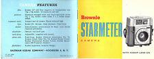 Eastman Kodak Brownie Starmeter Camera Vtge 1962 Operating Manual Photos