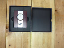 University of Findlay Oilers, Wood and Metal Desk Clock by LXG