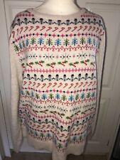 Neues AngebotJoules Chrissie Weihnachten Pullover 1/2 Zip sweatshirt gr XL Rp £ 79.95 freeukp & P