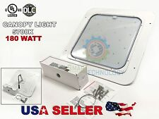 Canopy 180W LED Light Drop Len Gas Station with Mounting UL DLC 28500 Lumen 10YR