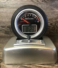 Car Wheel Alarm Clock With Shifter Digital Tire Racing Talking Drag Nascar Fan