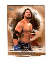 WWE AJ Styles #2 2017 Topps Undisputed Bronze Parallel Card SN 87 of 99