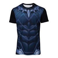 NEW! Marvel Comics Black Panther Men's Sublimation T-Shirt Large Multi-Colour TS