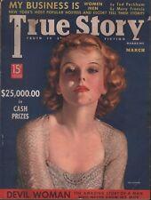 True Story Vintage Magazine March 1938 Mary Francis Ida Lupino 100118ame