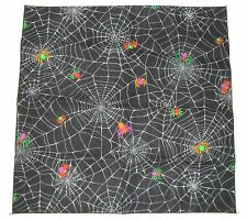 Halloween Spider Web Bandana Holiday Craft Napkin Placemat Cloths Costume NEW!