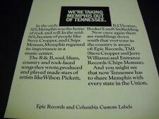 Memphis 71 promo poster ad Steve Cropper Chips Moman Wilson Pickett Otis Redding