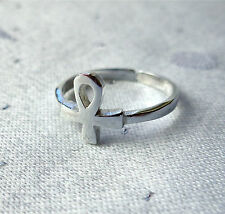 ANKH LONG LIFE TOE RING WICCA PAGAN 925 STERLING SILVER