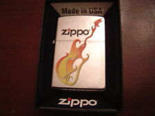ZIPPO FLAMING GUITAR STREET CHROME ZIPPO LIGHTER MINT IN BOX