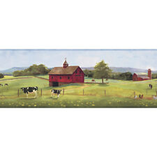 Good Pastures Farm Cow-Wallpaper Border by York