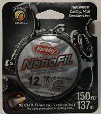 Berkley Nanofil Uni-filament 12LB/150YDS Low-Vis Green Fishing Line