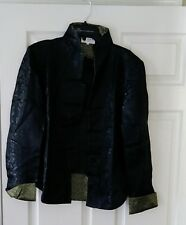 Black and Gold Silk Chinese Jacket