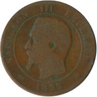 COIN / FRANCE / 10 CENTIMES 1855 NAPOLEON III. #WT4913