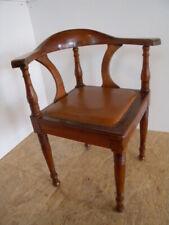 Ausgefallener Jugendstil Eckstuhl Armlehnstuhl Schreibtisch Stuhl Sessel um 1900