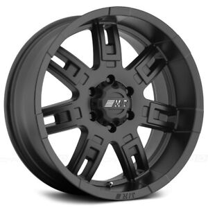 "Mickey Thompson Sidebiter II 16x8 6x5.5"" +0mm Matte Black Wheel Rim 16"" Inch"