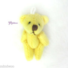 1/6 bjd Doll Momoko Blythe DAL Doll Miniature 4cm Mini Plush Teddy Bear Yellow