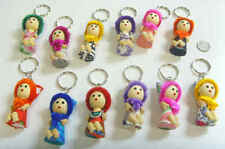 12 vintage hand crafted colorful love Russian Kulka dolls key chains lot 49794