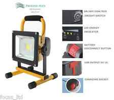 10W LED FLOODLIGHT WITH DETACHABLE BATTERY, DIMMABLE, USB PHONE CHARGING SOCKET