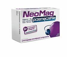 NEOMAG przemęczenie MAGNEZ magnesium vit.B6 żeńszeń ginseng mate stres nerwy